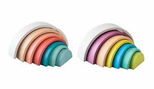 Wooden Rainbow Stacking toys boost motor skills GIFT