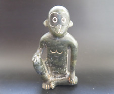 Old Chinese Hongshan culture Jade Hand-carved monkey statue #327