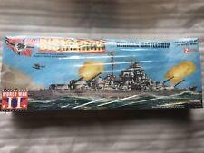 BISMARCK German Battleship Vintage 1/350 Model Building Kit Unopened by Lindberg