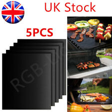 5 BBQ Grill Mat non-stick Oven Liners Teflon Cook Baking Reusable Sheet Pad RLTS