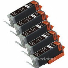 5 x Black Ink Cartridge For Canon PGI-5 PGI5 PIXMA iP5200R iP5300 MP500 MP530