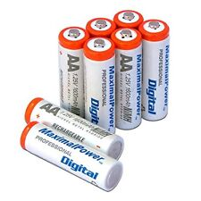 (8 Pack) MaximalPower™ AA 2A 1600 mAh Ni-MH Rechargeable Recharge Battery