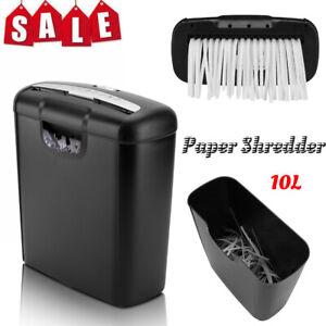 Electric Desk Paper Shredder Credit Card Shredder Heavy Duty Office Set 10L/168W