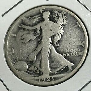 1921-D  WALKING LIBERTY SILVER HALF DOLLAR RARE KEY DATE