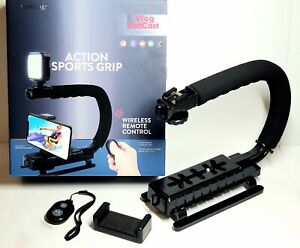 VIVITAR Camera and Smartphone Sports Action Grip with Phone Clampand wireless c