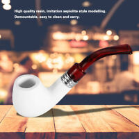 High Quality White Resin Tobacco Pipe Round Head Smoking Cigarette Tool Crafts