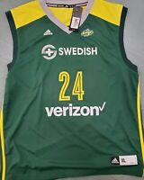 Signed Jewell Loyd #24 Seattle Storm WNBA Adidas Jersey  Adult XL NWT Sue Bird