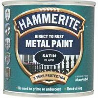 NEW HAMMERITE DIRECT TO RUST METAL PAINT SATIN BLACK 250ML 5084904 BEST QUALITY