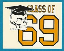 "VINTAGE ORIGINAL 1966 ED ROTH ""CLASS OF 69"" ROBERT WILLIAMS WATER DECAL ART"