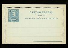Postal Stationery H&G #A5 Angra postal lettercard 1898 Vintage