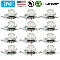 12 PACK 6-INCH NEW CONSTRUCTION CAN AIR TIGHT HOUSING RECESSED LED LIGHT