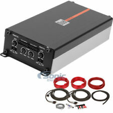 Dual DA704L 600W 4 Channel Digital Class D Car Amplifier w/ 8 AWG Amp Wiring Kit