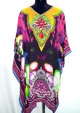 Digital Sheer Embellished Kaftan Top Kimono Viscose Sheer Stunning beach kaftan