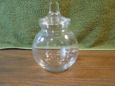 Princess House Crystal Heritage Pattern Cotton Ball~Vanity~Apothecary Jar w/lid