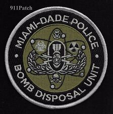 MIAMI, FL - Miami Dade Police Bomb Disposal Unit EOD POLICE Patch