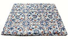 Kantha Work Cotton Quilt Bedspread Throw Rali Multi Color Bedcover King Floral