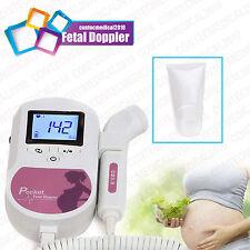 CONTEC Pregnancy Ultrasound Doppler Bébé moniteur cardiaque foetal FETAL LCD GEL
