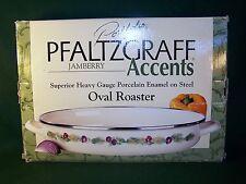"Pfaltzgraff Accents JamBerry  Porcelain Enamel On Steel Oval Roaster / Baker 13"""
