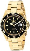 Invicta Mens Pro Diver 18k Gold Ion-Plated and Stainless Steel Watch