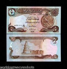 IRAQ 1/2 IRAQI DINAR P68 1980 REPLACEMENT 99 UNC ASTROLABE PALM SWISS GULF NOTE