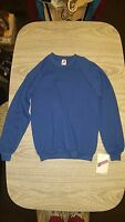 NWT VINTAGE 80/90's JERZEES CREW NECK SWEATSHIRT Blue--Size M 38-40  USA  NEW!