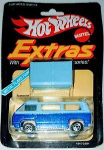 Hot Wheels Extras VW Bus Sunagon 1982 Blue Metal Flake Paint Pop Up Roof