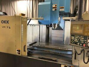 OKK model VM-7 (13K) CNC Vertical Machining Center-2000