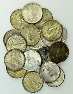 Philippines: Lot of  19 Silver 10 Centavos, 1937, 1944 (15), 1945 (3) EF-AU.