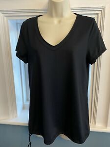 Sweaty Betty Black Short Sleeve Gym Yoga Top Size L 14-16