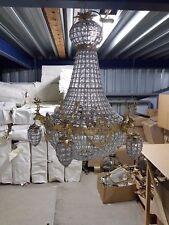 LIGHTING CRYSTAL BRASS CHANDELIER WITH DEERS  - 90/100 cm # MB240