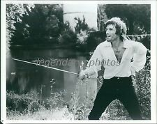 Actor Richard Chamberlain with Fencing Sword Original Photo