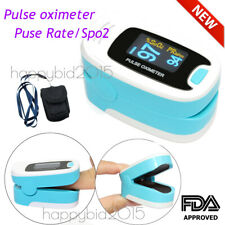 SPO2 PI PR Finger Tip Blood Oxygen Meter OLED Pulse Monitor Oximeter + Pouch FDA