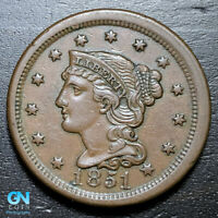 1851 Braided Hair Large Cent --  MAKE US AN OFFER!  #B3704