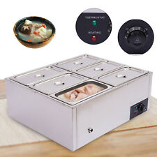 Commercial Food Warmer Stainless Steel Bain Marie Steam Table Countertop6 Pots