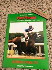RARE MINT 1996 BELMONT STAKES PROGRAM SKIP AWAY HALL OF FAME D. WAYNE LUKAS