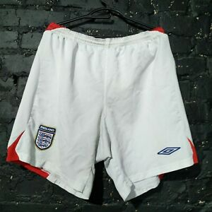Englang Football Shorts but 2004-2006 White Umbro Mens Size XL