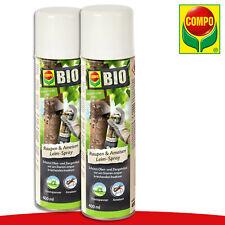 COMPO 2x 400ml Bio Anti-chenilles & Fourmis Colle Spray Cheimatobies