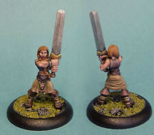 Painted ~Female Gael Warrior with 2-Handed Sword ~ I-Kore Celtos miniature