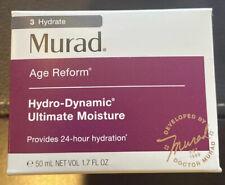 New Box MURAD Age Reform Hydro-Dynamic Ultimate Moisture 1.7 Oz 100% Authentic