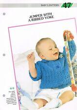Tejer patrón de revista. bebé saltador bebé de punto creativo. 47