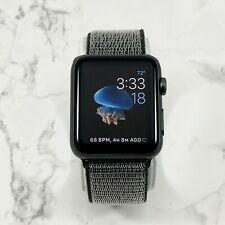 Apple Watch Series 1 42mm Space Gray Aluminum Olive Nylon Loop
