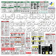 Genie GS5390 Decal Kit Scissor Lift Replacement Stickers - 3M Vinyl