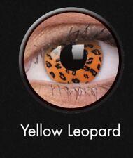 Crazy Contact Lens Lentilles Kontaktlinsen Yellow Leopard Fun Halloween Party UK