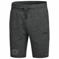 Jako Fußball Bayer 04 Leverkusen Shorts Premium Basics kurze Hose Herren grau