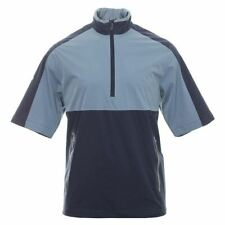 Callaway Golf Mens 1/2 Sleeve Windshirt Zip Water Resistant Stretch Wind Jacket