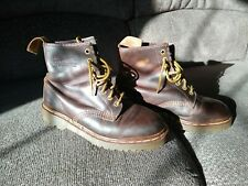 Dr. Doc Martens Air Wair Brown Leather 8-Eye Lace Up Boots 1460 England women's
