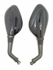 Rear View Mirrors 8mm GY6 Scooter Moped Vespa Peace 50cc 150cc 250 BLACK Mirror