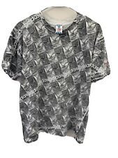 Vintage Adidas Made In USA Trefoil All Over Print Mens Medium Cotton T Shirt