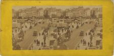 Pont Neuf Paris Instantané Photo Stereo Vintage Albumine ca 1865