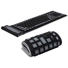 Wireless Keyboard 2.4Ghz Waterproof Flexible Silicone soft Rubber PC / Laptop